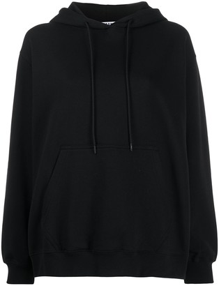 MSGM Logo-Print Hooded Sweatshirt