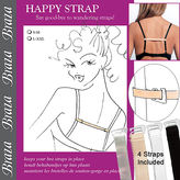 Braza Happy Straps-Keeps Bra Straps in Place, Assorted, S/M 1 ea