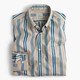 J.Crew Secret Wash shirt in brown stripe