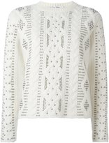 Valentino studded cable knit jumper