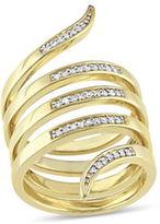 Catherine Malandrino 18K Goldplated and 0.20 TCW Diamonds Wrap Ring