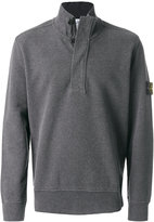 Stone Island zipped polo sweater