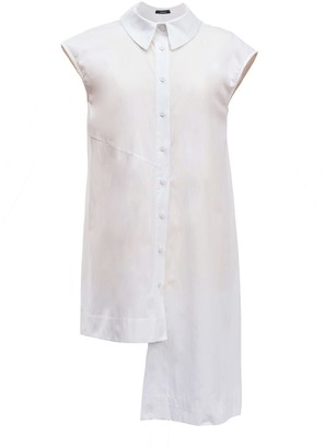 Cotton White Sleeveless Shirt Anita