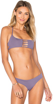 Bettinis Pull Over Bralette Top in Purple. - size M (also in )