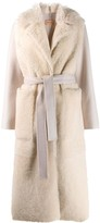 Yves Salomon fur panel robe coat