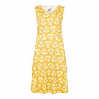 Weird Fish Paisley Sleeveless Patterned Jersey Dress Sunshine Yellow Size 12
