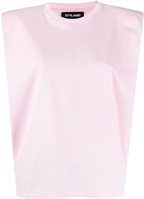 Styland Structured Cap Sleeves Top