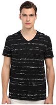 Vince Short Sleeve Roller Print V-Neck T-Shirt