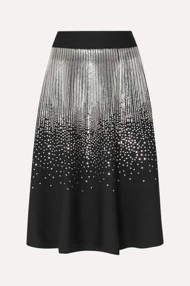 Givenchy Sequin-embellished Stretch Wool-blend Midi Skirt - Black