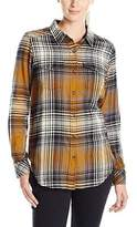 Kavu Billie Jean Shirt - Long-Sleeve - Women's Black N Tan M