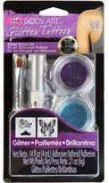 Tulip Body Art Glitter Tattoo Kit, Purple