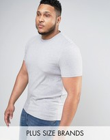 Asos PLUS Muscle T-Shirt With Crew Neck In Gray Marl