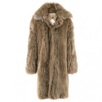 Loewe Brown Shearling Coat for Women