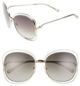Chloé 'Carlina' 60mm Oversize Sunglasses