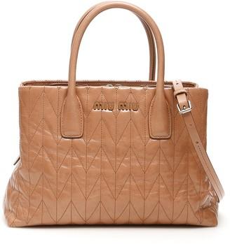 Miu Miu Quilted Tote Bag