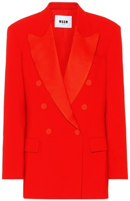 MSGM Double-breasted crepe blazer