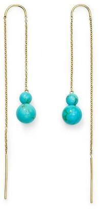 Ippolita 18kt yellow gold Nova Threader turquoise drop earrings