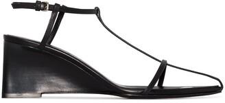 Jil Sander Caged 70mm Wedge Sandals