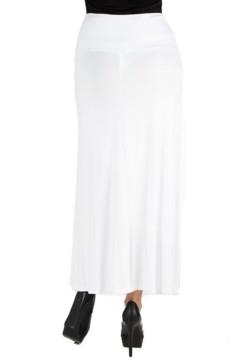 24seven Comfort Apparel Women's Elastic Waist Maxi Skirt