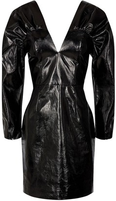 Rotate by Birger Christensen Clara Faux Leather Mini Dress