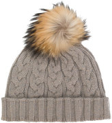 N.Peal pompom beanie hat