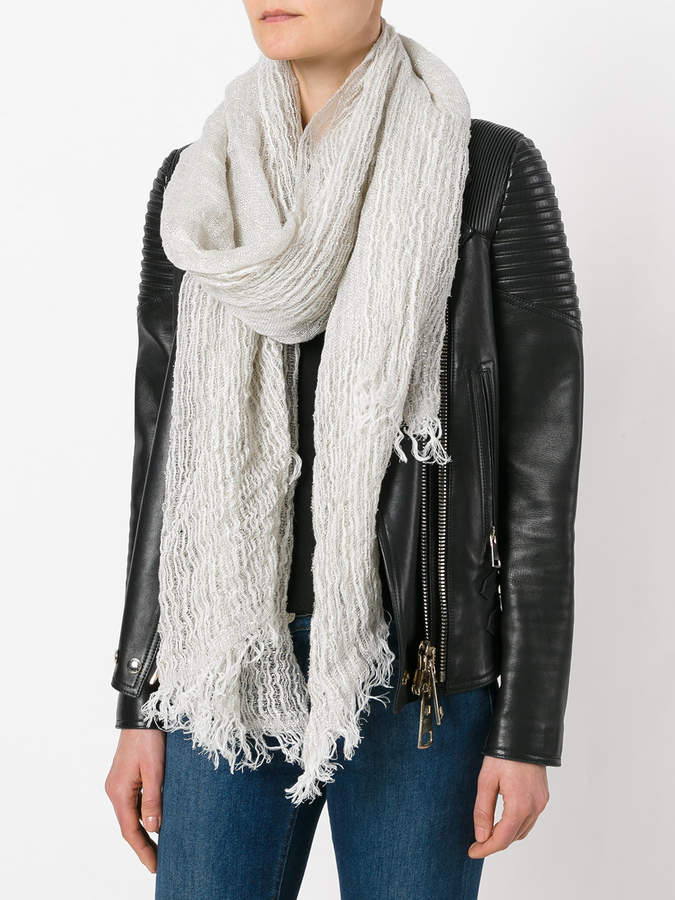 Forte Forte striped fringed scarf