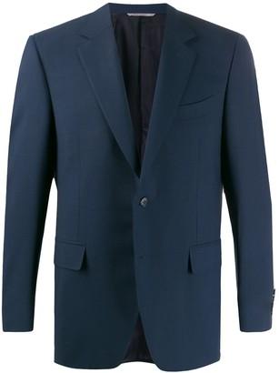 Canali Fitted Fine Knit Blazer