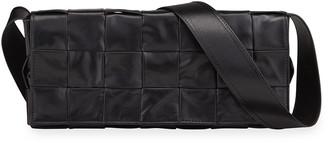 Bottega Veneta Men's Woven Leather Messenger Bag