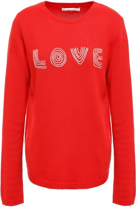 Parker Chinti & Embroidered Wool And Cashmere-blend Sweater
