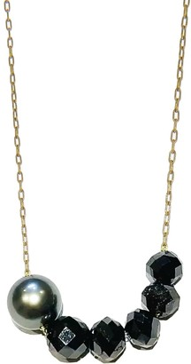 Ten Thousand Things Black Diamond and Tahitian Pearl Yellow Gold Necklace