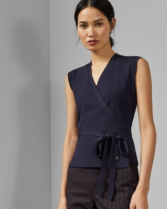 Ted Baker Knitted Wrap Top