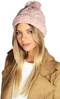 Boohoo Rosie Chunky Knit Bobble Hat