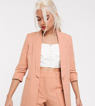 ASOS DESIGN Petite mix & match tailored suit blazer