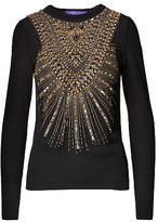 Ralph Lauren Beaded Cashmere Sweater