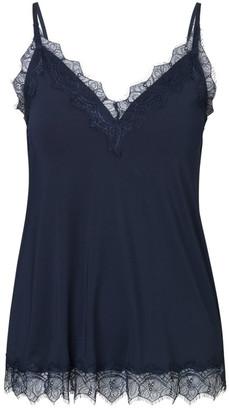 Rosemunde Billie Strap Top With Lace - Dark Blue - DK 34 (UK 8)