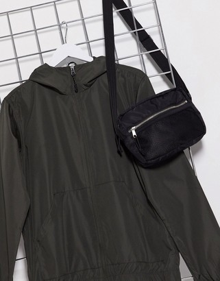 Brave Soul lightweight zip thru hooded jacket