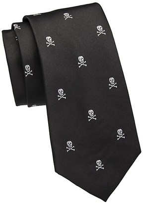 Ralph Lauren Purple Label Skull Crossbones Silk Tie