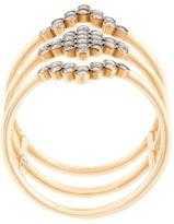 Yannis Sergakis triple stacked diamond charnieres ring