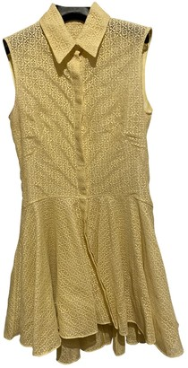 Alexander McQueen Yellow Silk Dresses
