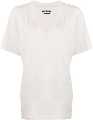 Isabel Marant v-neck cotton T-shirt