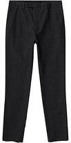 Jigsaw Italian Melange Cotton Trousers, Charcoal