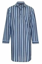 Champion Men's Westminster Polycotton Summer Striped Nightshirt (L) Navy