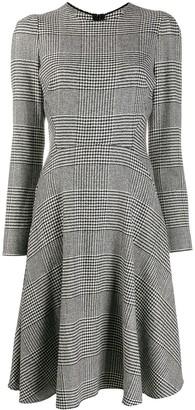 Ermanno Scervino Long-Sleeve Plaid Dress