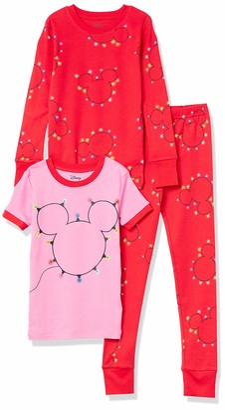 Spotted Zebra Big Girls' Frozen 3-Piece Snug-Fit Cotton Pajama Set