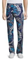 Versace Regular-Fit Chain-Print Jeans