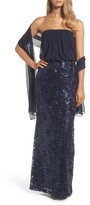 Vince Camuto Women's Blouson Gown With Shawl