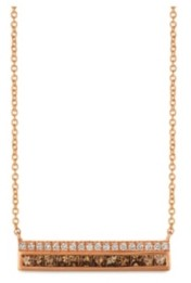 LeVian Chocolate Diamonds (1/2 ct. t.w.) and Vanilla Diamonds (1/8 ct. t.w.) Necklace in 14k Rose Gold