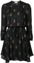 A.L.C. flowers print shirt dress - women - Silk/Polyester - 2
