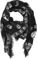 Alexander McQueen Skull Printed Knit Scarf