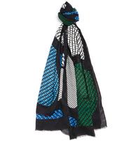 Diane von Furstenberg Multicoloured Printed 'Grace' Cashmere Blend Scarf